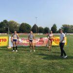 Siegerehrung 400m der Frauen